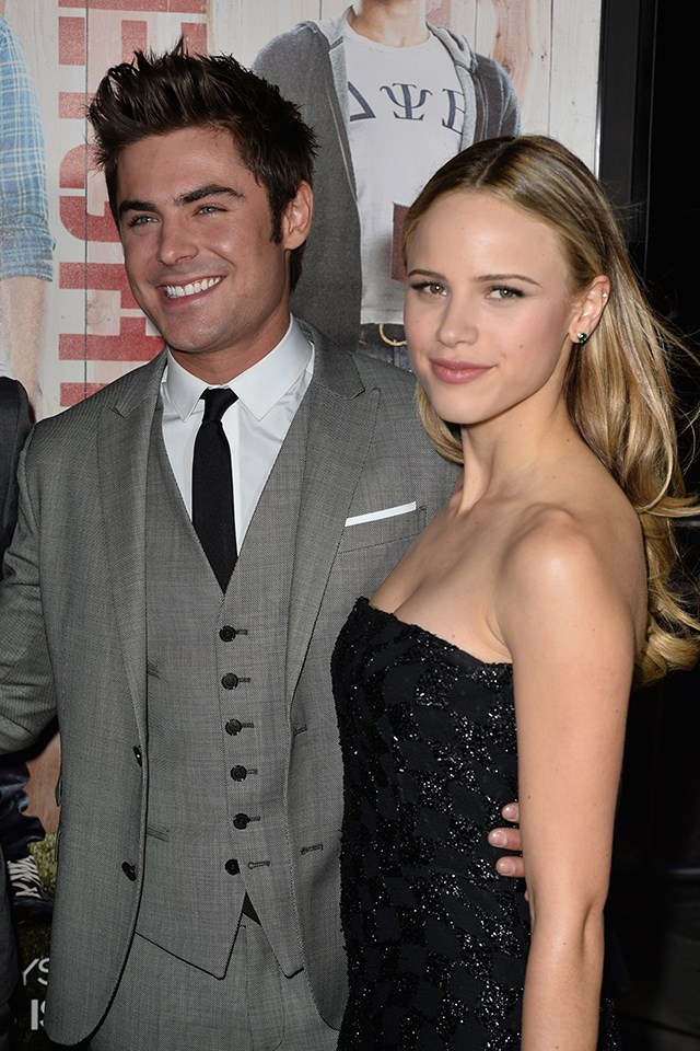 """**Halston Sage** <br><br> Zac was briefly linked to Halston Sage, the blonde babe he co-starred with in 2014's *Bad Neighbours*. They were spotted ~hanging out~ a few times, like when they went to the [basketball together](http://www.eonline.com/au/news/531969/zac-efron-dating-neighbors-co-star-halston-sage-he-s-really-good-to-her-source-says