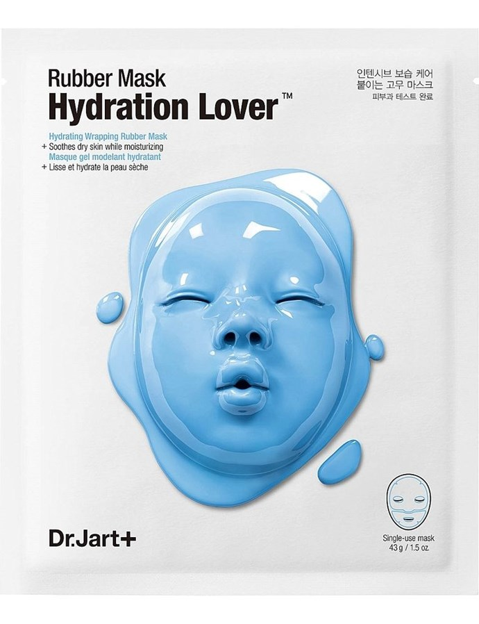 """**2. Dr Jart Rubber Mask Hydration Lover** <br><br> """"The Ampoule pack that comes with it packs a ton of serum, and the jelly mask creates a great occlusive barrier to trap the serum in and prevent drying out. It says to leave it for 20-30 minutes, but no more than 40. I always go for the full 40 minutes. Your face is so hydrated and moisturised after,"""" says Reddit user, [Veronicaxrowena](https://www.reddit.com/user/veronicaxrowena
