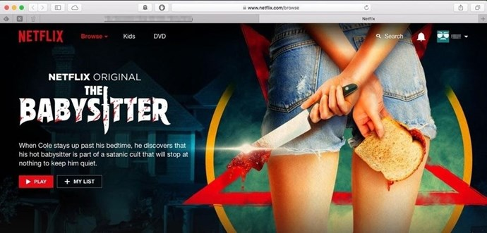 **THE HANDS IN THIS NETFLIX PHOTO FOR *THE BABYSITTER*** <br><br> If you looked quickly, you probably missed it. In October, one Reddit user noticed the sitter pictured on Netflix's page for *The Babysitter* appeared to have two right hands.