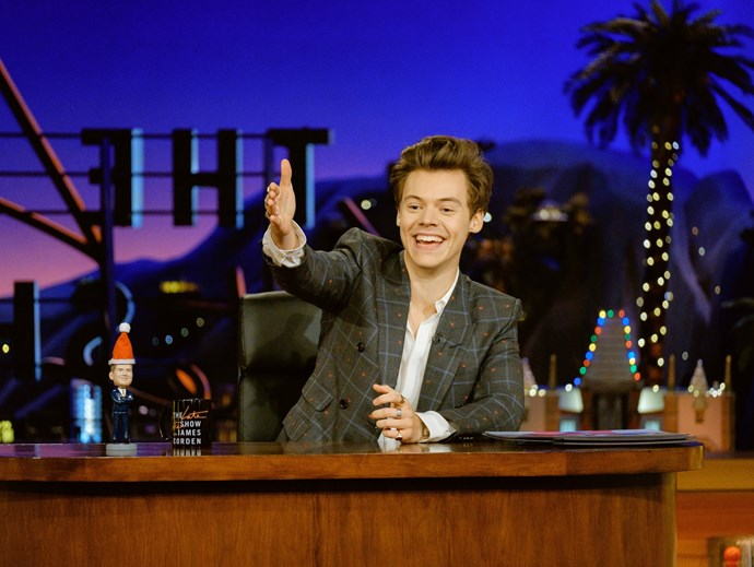 Your boyfriend Harry Styles absolutely nailed his last minute Late Late Show hosting gig