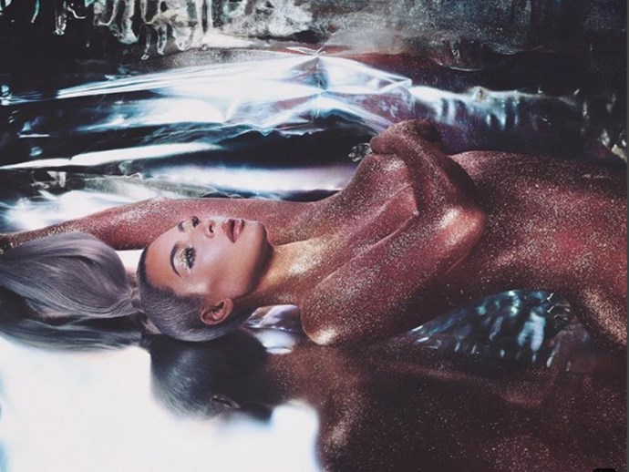 Kim Kardashian Released the Most Amazing Behind-the-Scenes Photos From Her Naked Glitter Shoot