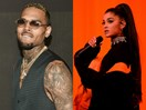 Did Chris Brown just put a creepy picture of Ariana Grande on his album cover?