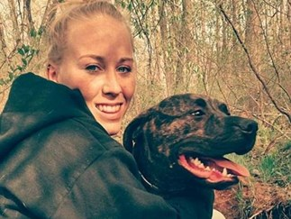 Woman mauled to death by her own pit bull dogs