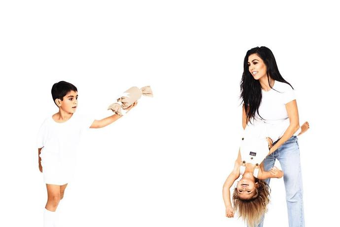 Day 14: Mason Disick, Penelope Disick and Kourtney Kardashian.