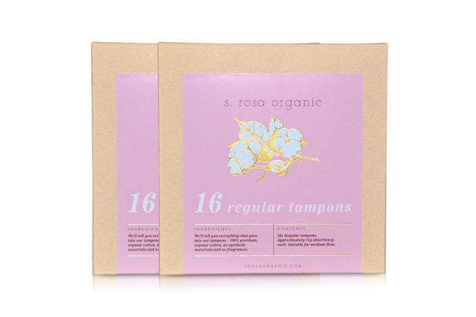 Just your basic block of tampons knocking at your door every month so you don't have to do the supermarket dash to top up your stock. Plus, these ones are really cute and organic, so you're adorably saving the world. <br> <br> <Br> 32x Regular Organic Cotton Tampons, $13.50 per month from [S. Rosa Organic](https://www.srosaorganic.com/products/32x-organic-tampons).