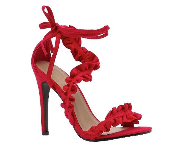 "Shoes, $39 at [Boohoo](http://au.boohoo.com/bella-frill-wrap-strap-heels/DZZ30511.html?color=157|target=""_blank""|rel=""nofollow"")"
