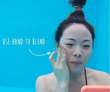 This viral underwater makeup tutorial is honestly next level
