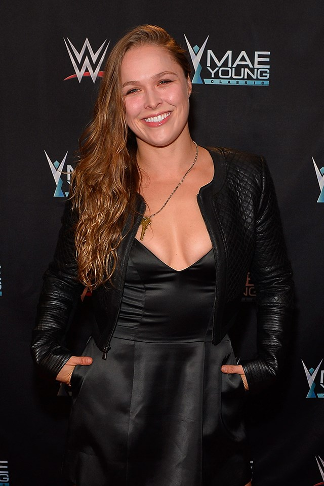 """**Ronda Rousey** <br><br> The MMA fighter admitted that she had [tried Tinder](https://www.si.com/extra-mustard/2015/05/12/ronda-rousey-fame-tinder-ufc
