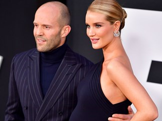 Rosie Huntington-Whiteley shares a pretty glam first picture of her son since his birth