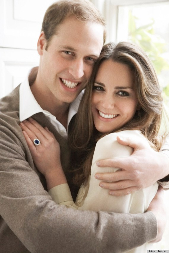 Kate and William's engagement photo taken by Mario Testino.