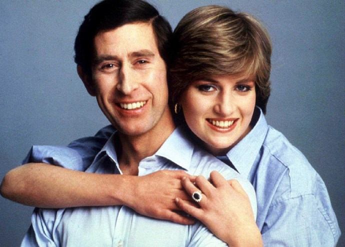 Prince Charles and Diana Spencer's official engagement photo taken by the Prince's uncle, Lord Sowndon.