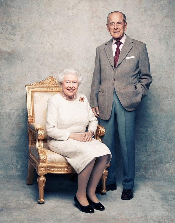 The royal palace released new portraits of Queen Elizabeth II and Prince Philip this year to mark their 70th wedding anniversary.