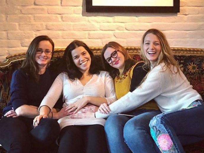 The Sisterhood of the Travelling Pants gang reunites for America Ferrera's pregnancy news