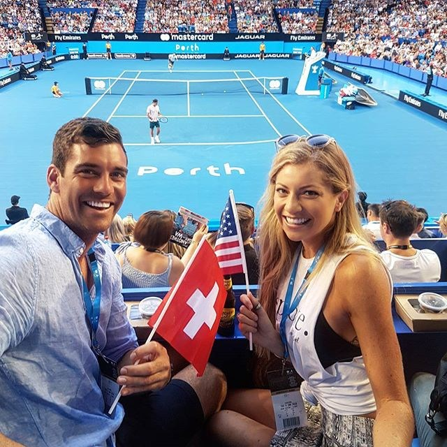 **Cam Cranley and Tiffany Scanlon** <br><br> OK, so this one isn't super-confirmed, but the two Perth-based contestants (she was on *The Bachelor* 2016 and he was on *The Bachelorette* 2016) have been spending quite a bit of time together, at spring racing events and the tennis. No wonder people think they'd make a cute couple.