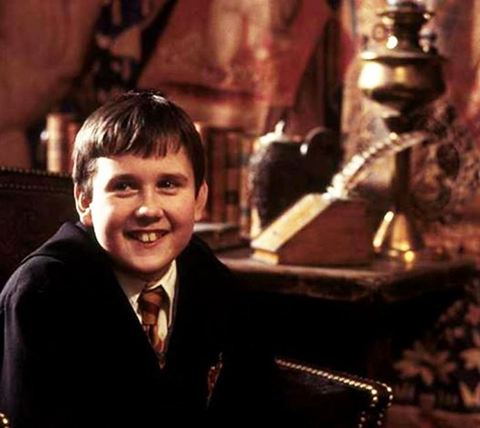 Neville being rightly chuffed that he won the cup for his Gryffindor. WHAT A LAD.