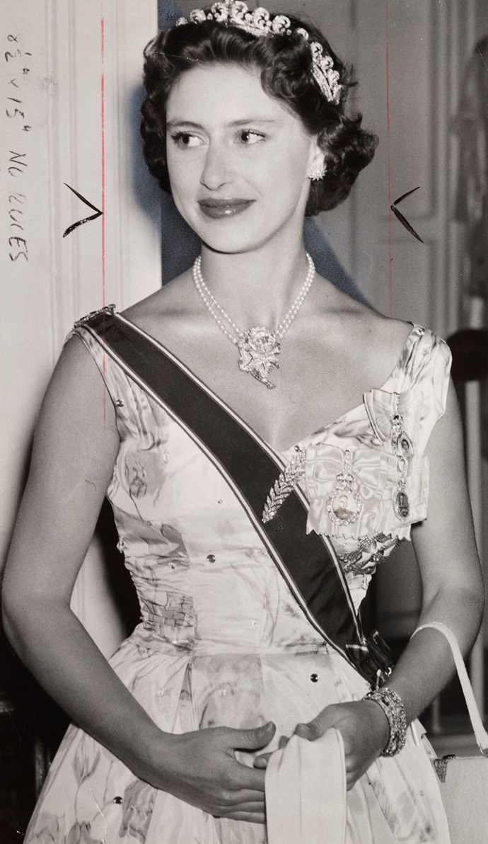 The real princess Margaret in 1955.