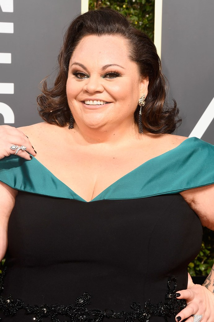 **Keala Settle** <br><br> *The Greatest Showman* actress gave us old-Hollywood glam when she stepped out on this year's red carpet.