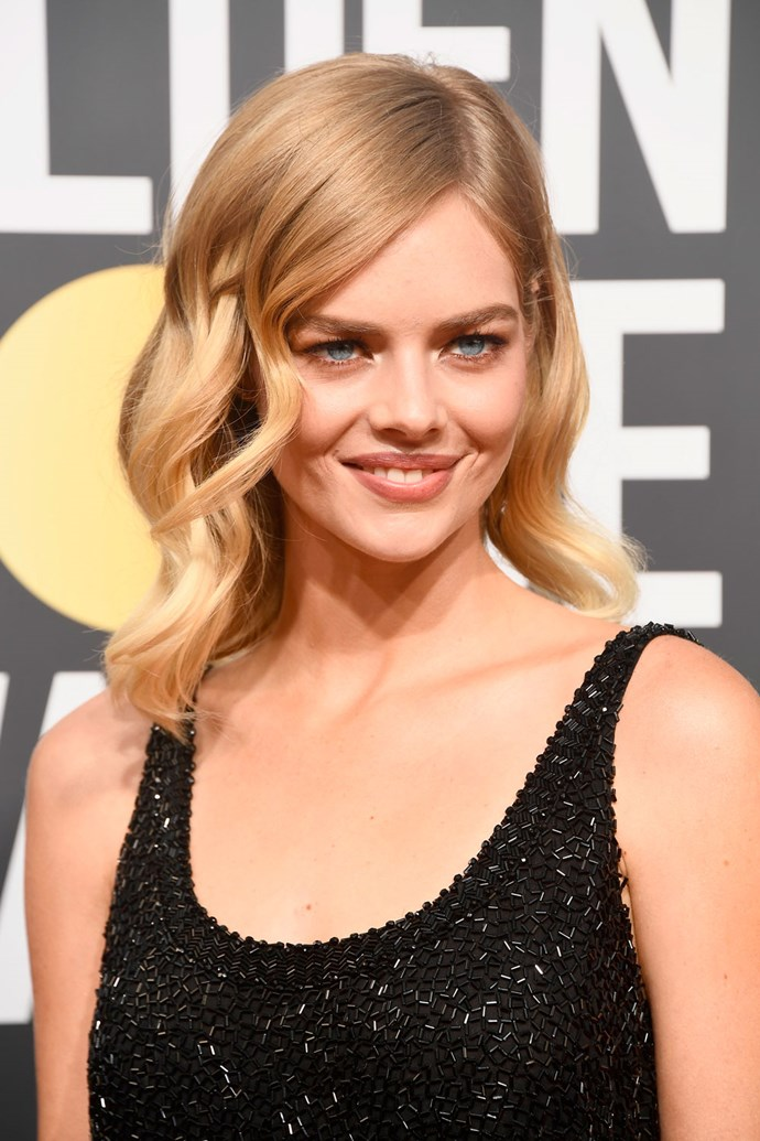 **Samara Weaving** <br><br> Aussie beb Samara Weaving is all about neutral tones when it comes to her beauty look on the red carpet.