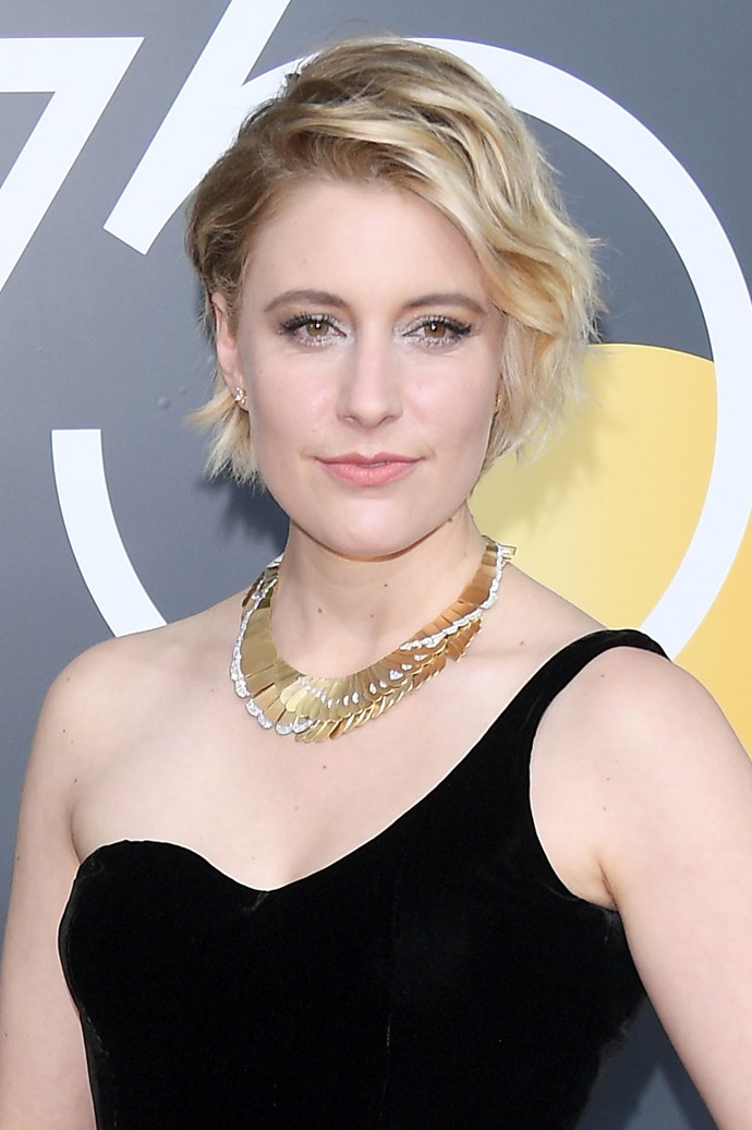 **Greta Gerwig** <br><br> It ain't no secret that the wavy blonde crop is a new red carpet fave, and Greta Gerwig makes a helluva good case for it!