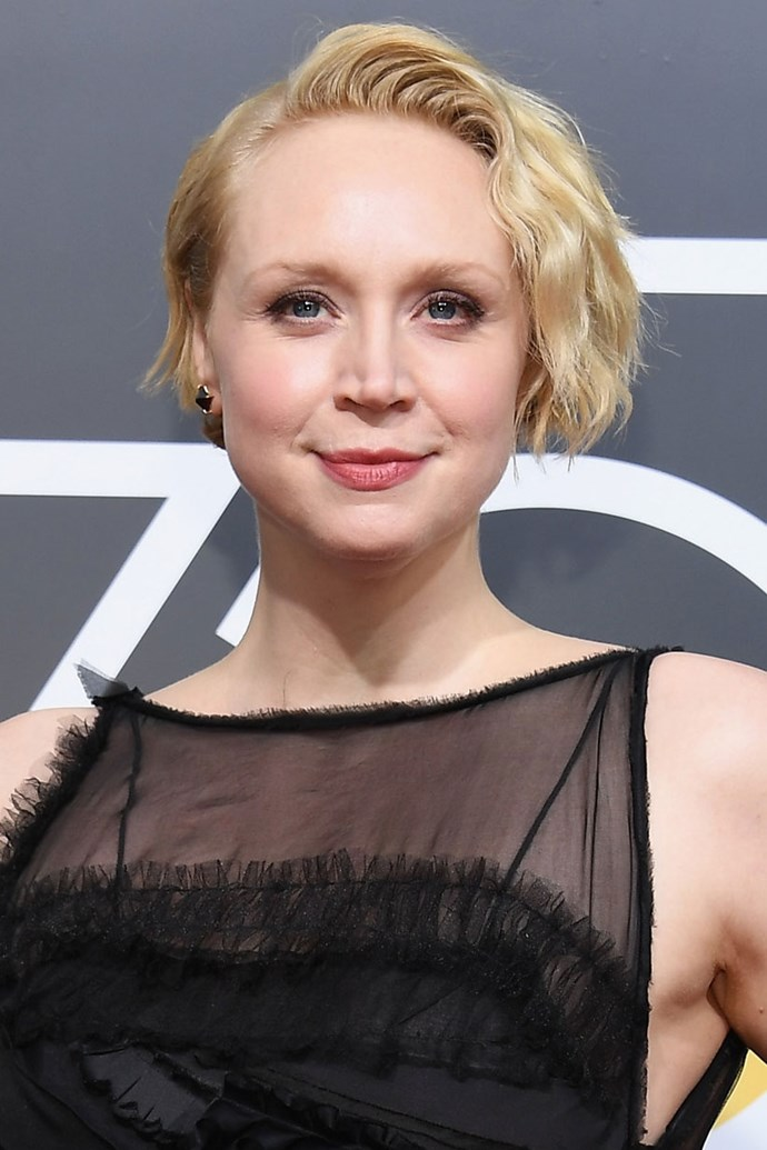 **Gwendoline Christie** <br><br> We are all for the *Star Wars* actresses' wavy blonde crop and rosy lip and cheek combo.
