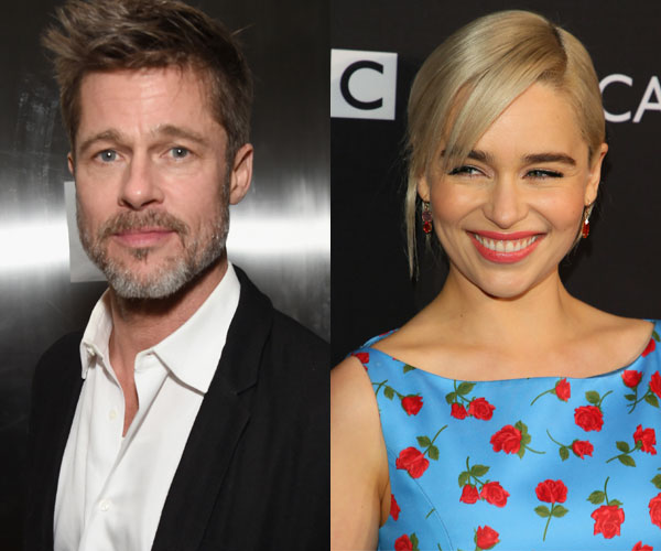 Brad Pitt Bid Over $100K To Watch GOT With Emilia Clarke!