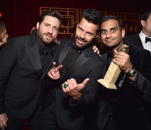 Edgar Ramirez, Ricky Martin and Aziz Ansari