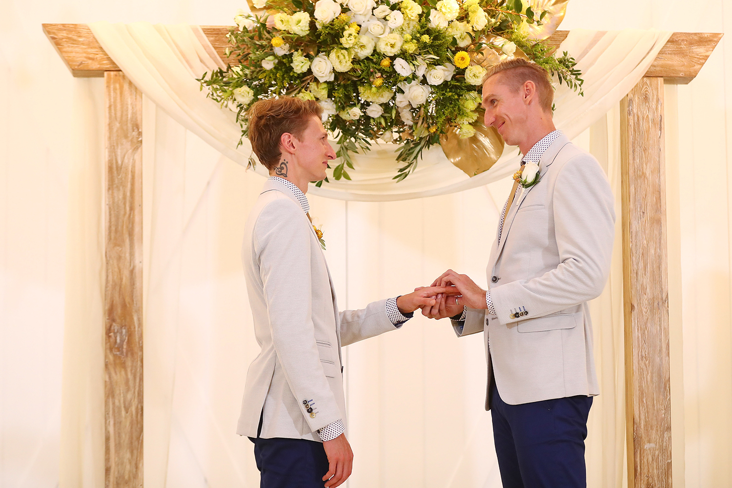 Wedding bells finally ring for Australia's gay couples