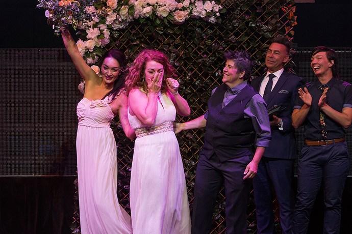 Gillian Brady and Lisa Goldsmith's wedding.