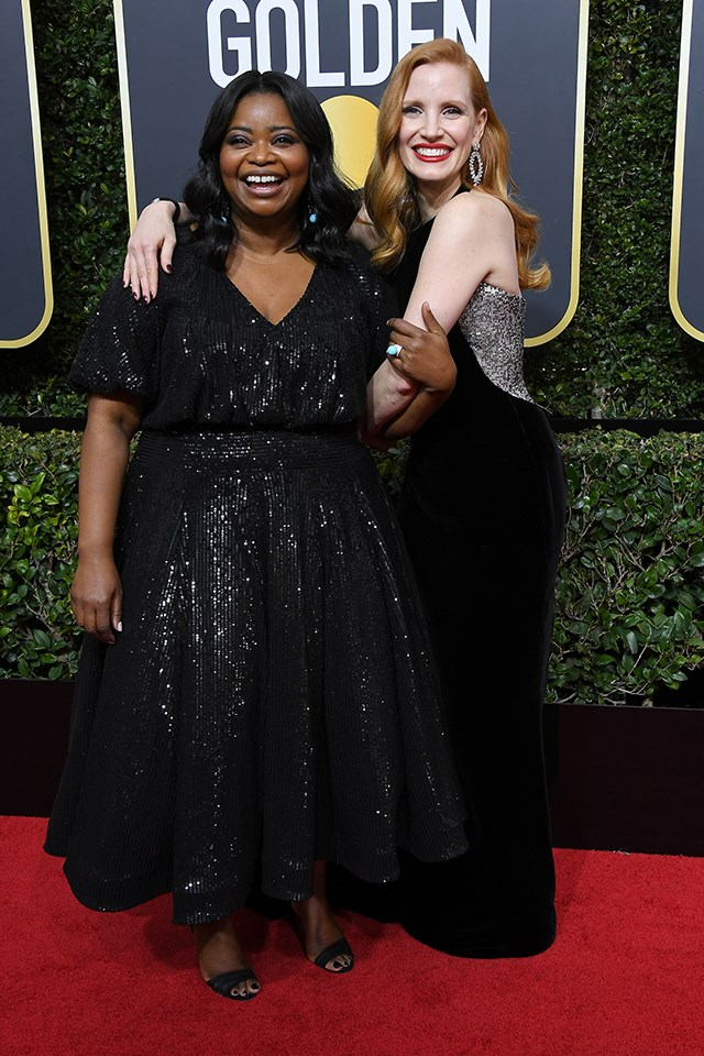 How cute are **Octavia Spencer** and **Jessica Chastain**? They worked together in *The Help* in 2011.
