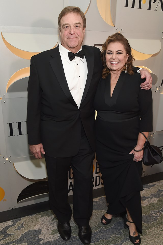 **John Goodman** and **Roseanne Barr** go way back, from their *Roseanne* days.
