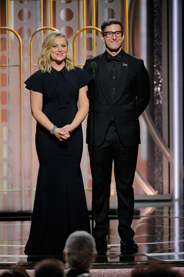 **Amy Poehler** and **Andy Samberg** both got their funny starts on *Saturday Night Live*.