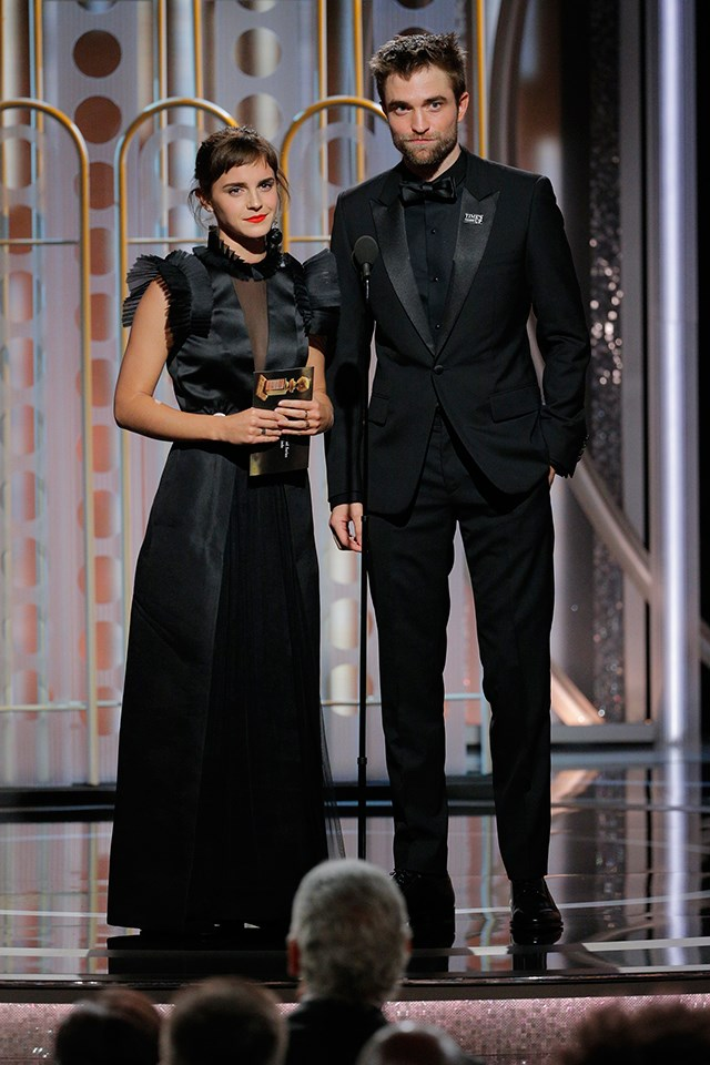 It's Hermione Granger and Cedric Diggory! We mean **Emma Watson** and **Robert Pattinson**.