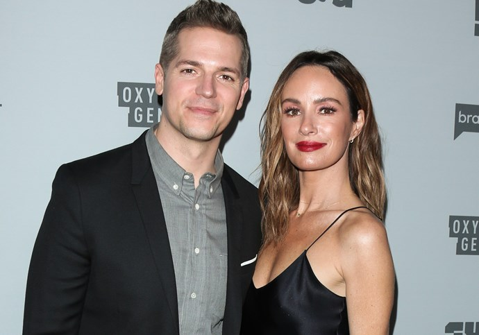 CATT SADLER WITH HER FORMER E! CO-ANCHOR JASON KENNEDY.