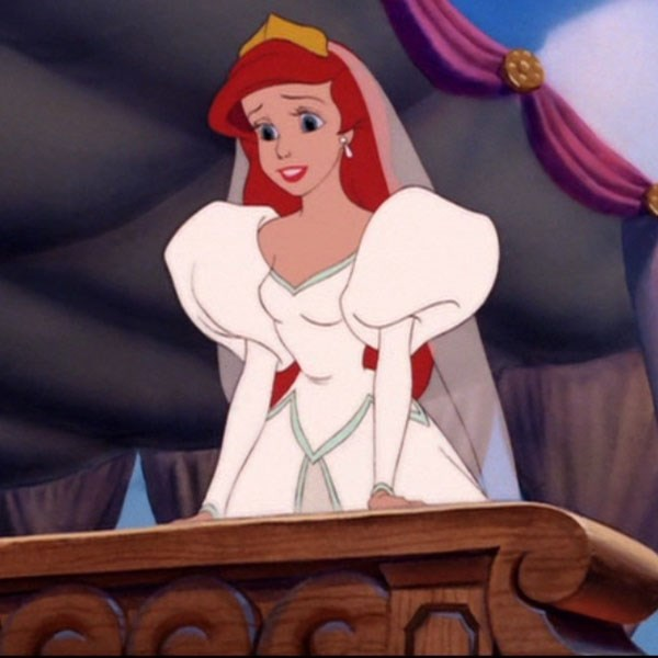 ***The Little Mermaid***  Ariel's puffy sleeved gown was SO eighties it hurts, but we also kinda dig it.