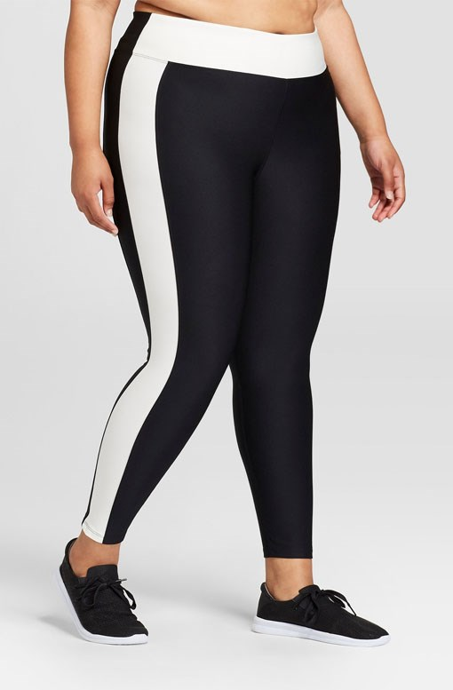 Women's Plus Performance Colour Block Leggings, $31.99 from [Target](https://www.target.com/p/women-s-plus-performance-color-block-leggings-joylab-153/-/A-52858135#lnk=newtab).