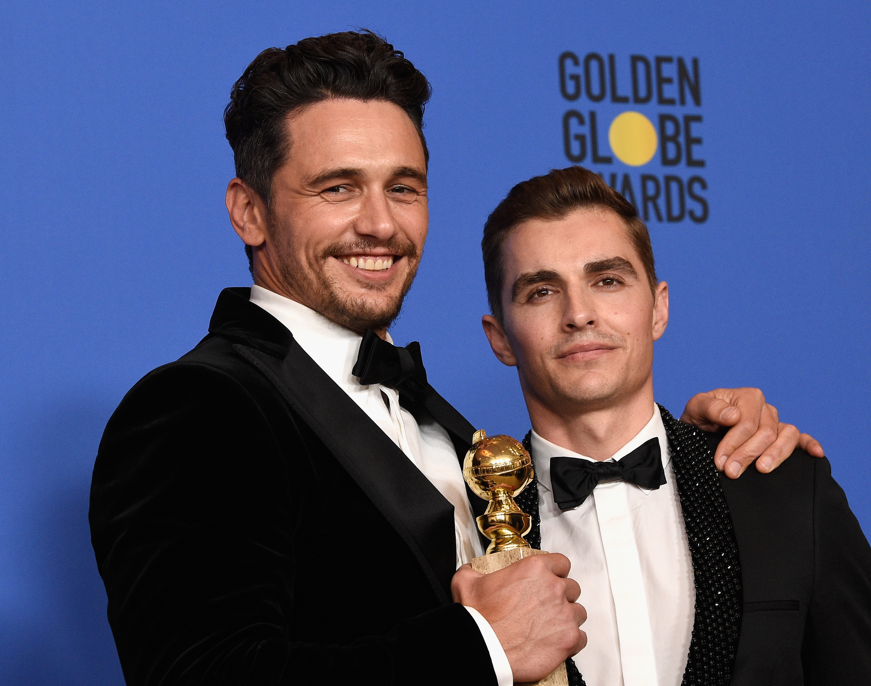 James Franco with his brither Dave Franco at the Golden Globes on Sunday
