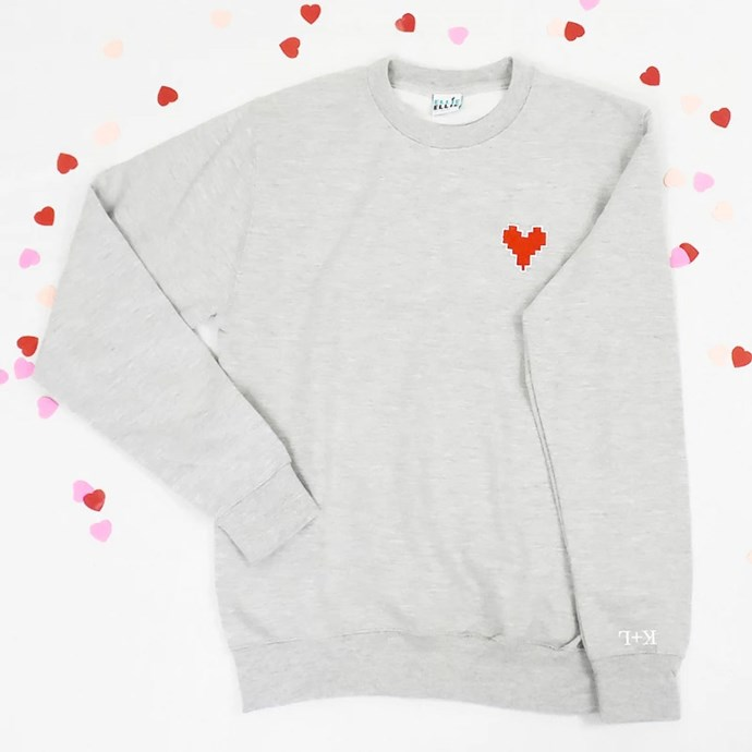 I Love You Embroidered Personalised Unisex Sweatshirt, $95.20 from [Hard To Find](https://www.hardtofind.com.au/139891_i-love-you-embroidered-personalised-unisex-sweatshirt).