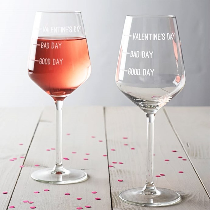 Valentine's Day Wine Glass, $55.20 from [Hard To Find](https://www.hardtofind.com.au/143452_valentines-day-wine-glass).