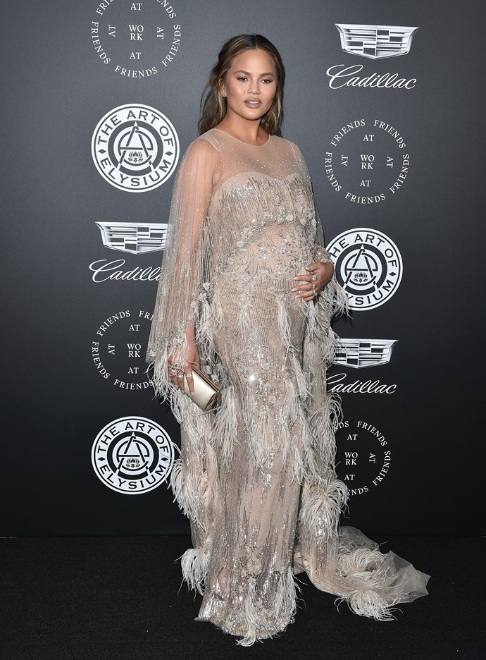 Chrissy's sparkly gown at the Art of Elysium celebration was nothing short of spectacular.