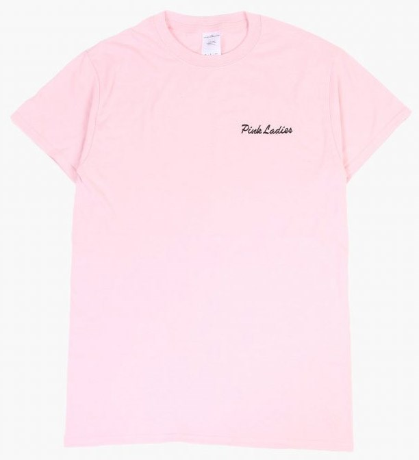 Pink Ladies Tee, $79 from [Double Trouble Gang](https://doubletroublegang.com/product/pink-ladies-tee/).