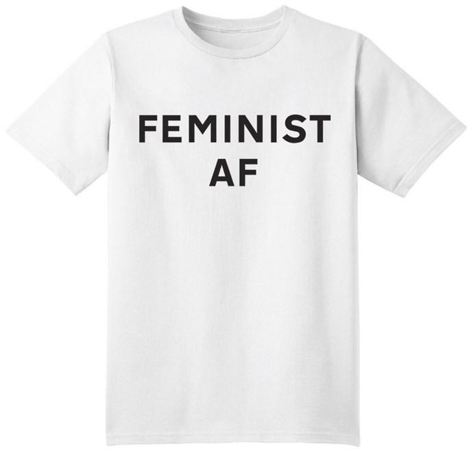 Feminist AF Fee, $95 from [Jonathan Simkhai](https://jonathansimkhai.com/products/feminist-af-tee).