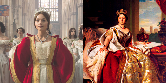**Queen Victoria (Jenna Coleman)**  Born in 1819, Victoria became queen in 1837 when she was 18 years old. She reigned until her death in 1901, and until her great-great-granddaughter Elizabeth II beat her record in 2015, she was the longest-reigning British monarch in history. Victoria married Albert in 1840 and by all accounts was deeply in love with him. They had nine children together, when he died in 1861, she was devastated and wore black for the rest of her life.
