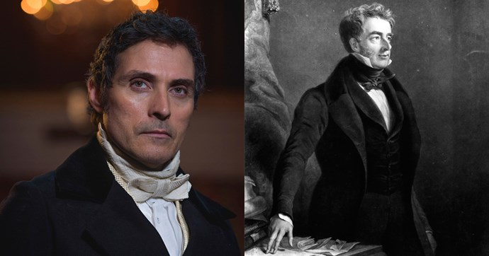 **Lord Mebourne (Rufus Sewell)**  William Lamb, 2nd Viscount Melbourne, was a mentor of Victoria's during her early years as queen; he also served as Prime Minister in 1834 and from 1835 to 1841. The show implies that Lord M and Victoria may have shared more than platonic feelings for one another, but chalk that up to the handsomeness of Rufus Sewell — the real Victoria said she though of Melbourne as a father figure.