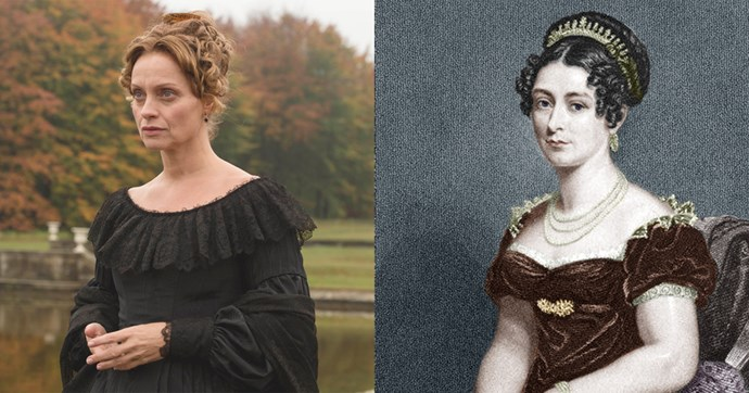 "**Victoria, Duchess of Kent (Catherine Flemming)**  The Victoria was the mother of the *other* Victoria (whose given name was Alexandrina — that's why you hear her mother calling her ""Drina"" on the show). Victoria married into the British royal family in 1818, but when her husband Prince Edward died in 1820, she stayed in England in hopes that their daughter would eventually inherit the throne."