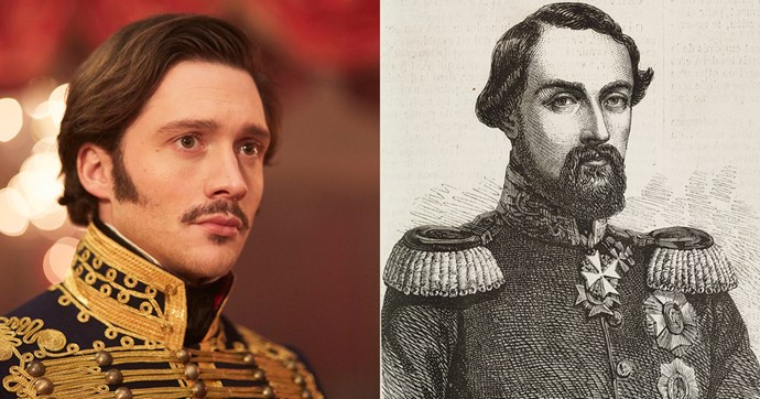 **Prince Ernest (David Oakes)**  Ernest II was the older brother of Prince Albert; he became Duke of Saxe-Coburg and Gotha upon their father's death in 1844. Like his show counterpart, he was promiscuous in real life though probably not as handsome; at some point he also suffered from a venereal disease.