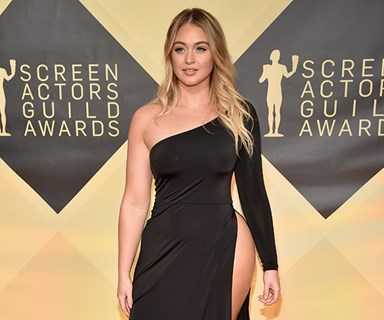 Iskra Lawrence SLAYED on the SAG Awards red carpet with this insane slit dress