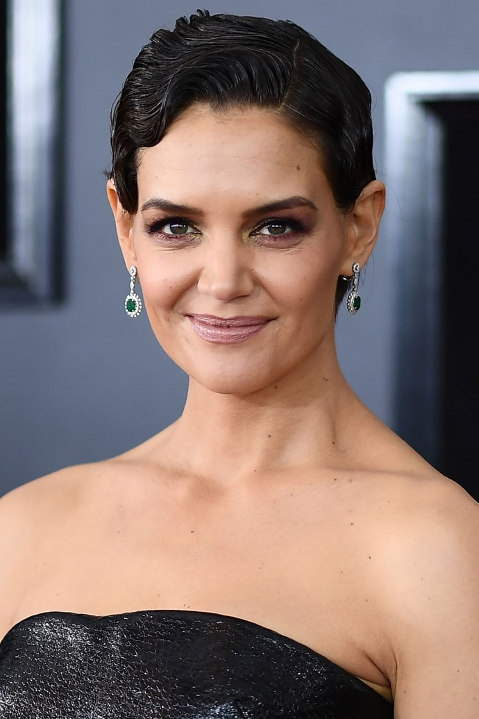 **Katie Holmes** <br><br> Katie Holmes has absolutely been rocking her short 'do, styling it in slicked-down finger curls on this year's red carpet.