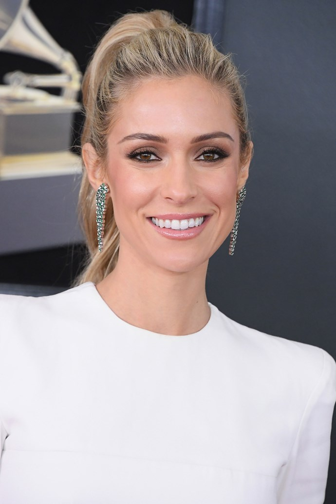 **Kristin Cavallari** <br><br> The former *Hills* star went for a high pony and lightly-lined eye on this year's red carpet.