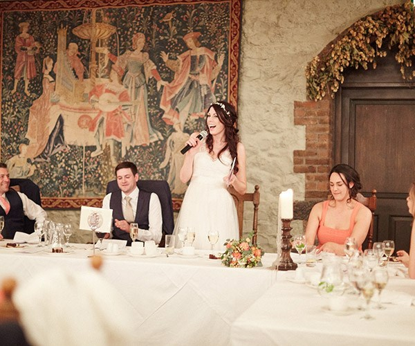 Should brides make a speech at their own wedding?