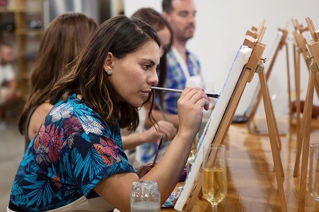 **Boozy Art Session, $60 each, [Cork & Chroma](http://www.corkandchroma.com.au/).** <br><br> Grab your paint brushes, your fave bottle of rosé and your best gals to have an evening of boozy creativity! Each class has an artistic aim, but there are no wrong strokes — so even if you're a complete creative noob, you can still give this a stab and walk away with your own canvas!